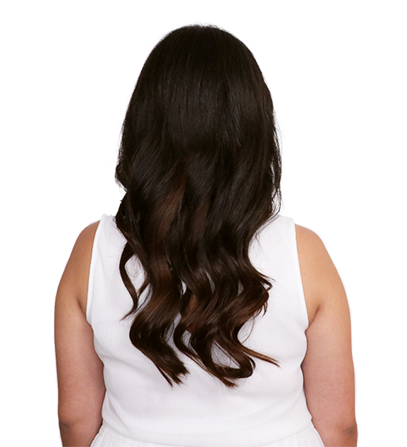Wig vector hair extension. Clip in extensions before
