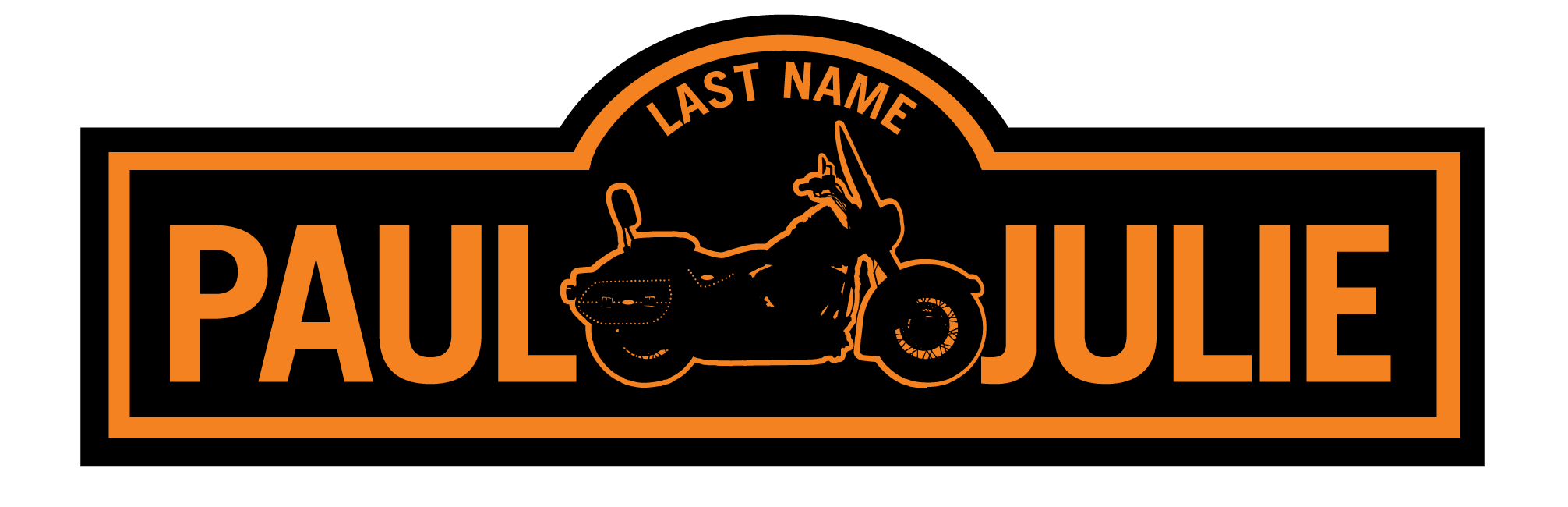Long clip name. Names personalized motorcycle signs