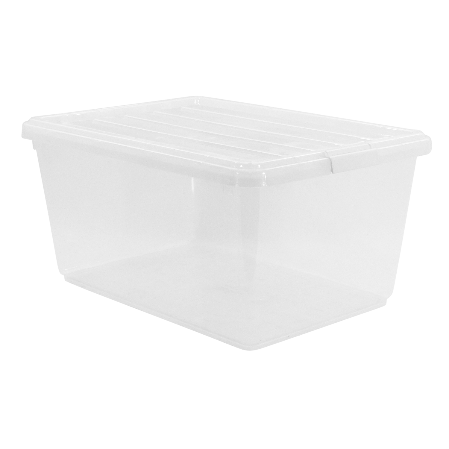 Long clip plastic. Large storage boxes containers