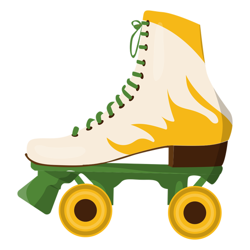 Vector skates pro. Yellow fire roller skate