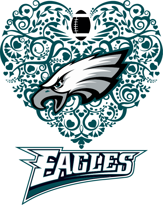 Longhorn svg dxf. Eagles heart football png