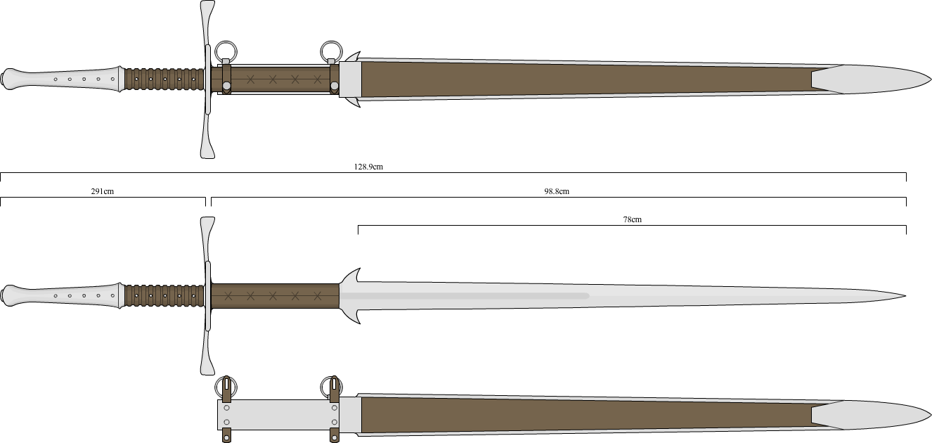 Longsword drawing design. Swords