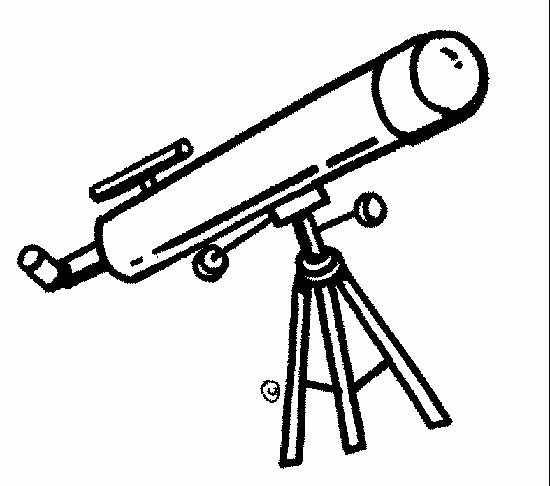Telescope clipart. Black and white letters
