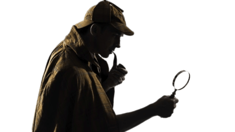 Looking glass png. Sherlock holmes with transparent