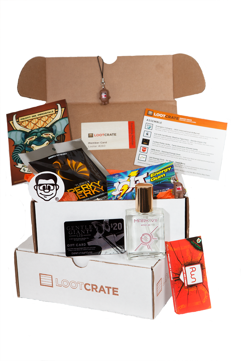 Loot crate box png image. Launches first monthly subscription
