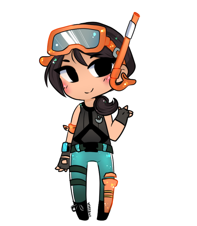 Fortnite clipart cool kid art. Spent the down time