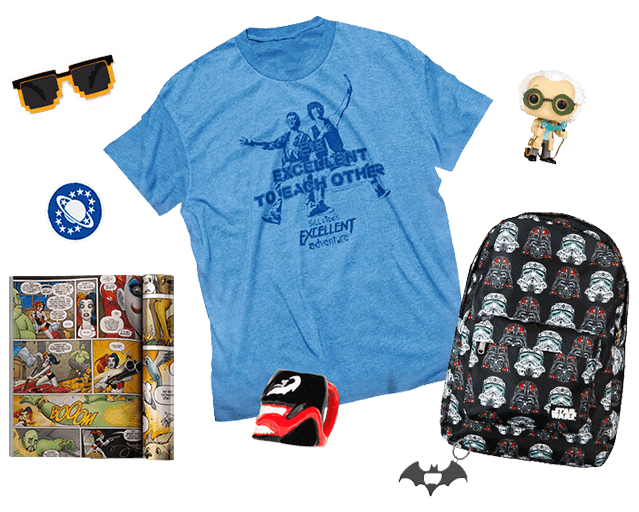 Loot crate items png. Geek subscription box for