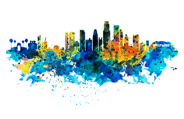 Los angeles skyline png. Carry all pouch