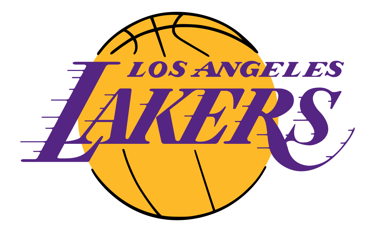 lakers drawing basketball