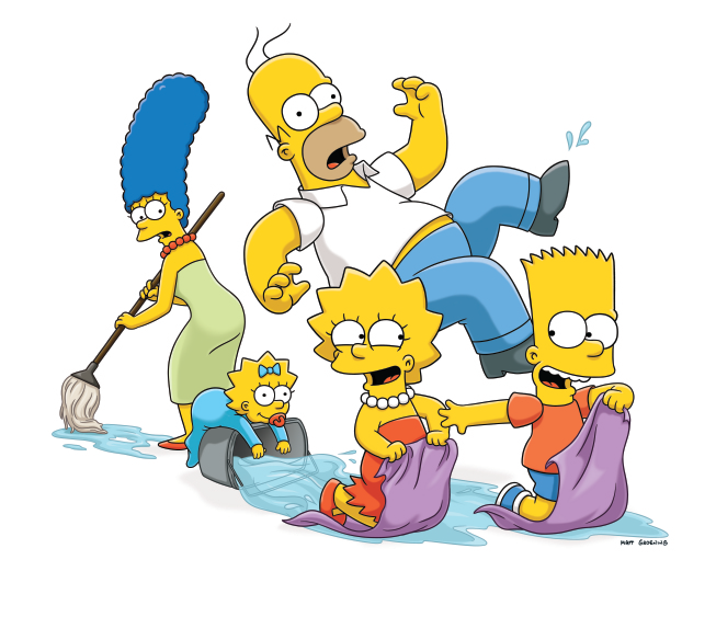 Los simpsons png. Image simpson family water