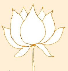 lotus clipart easy draw