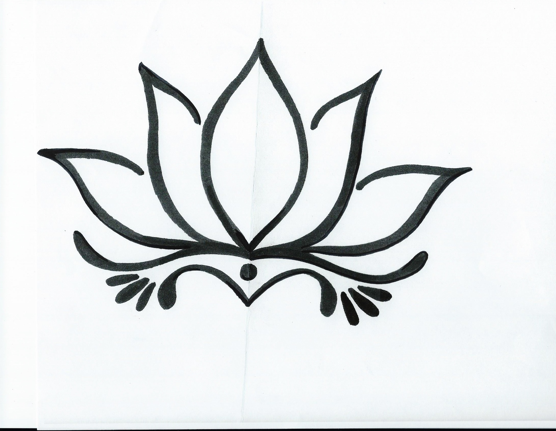 Lotus clipart easy draw. Drawing at getdrawings com