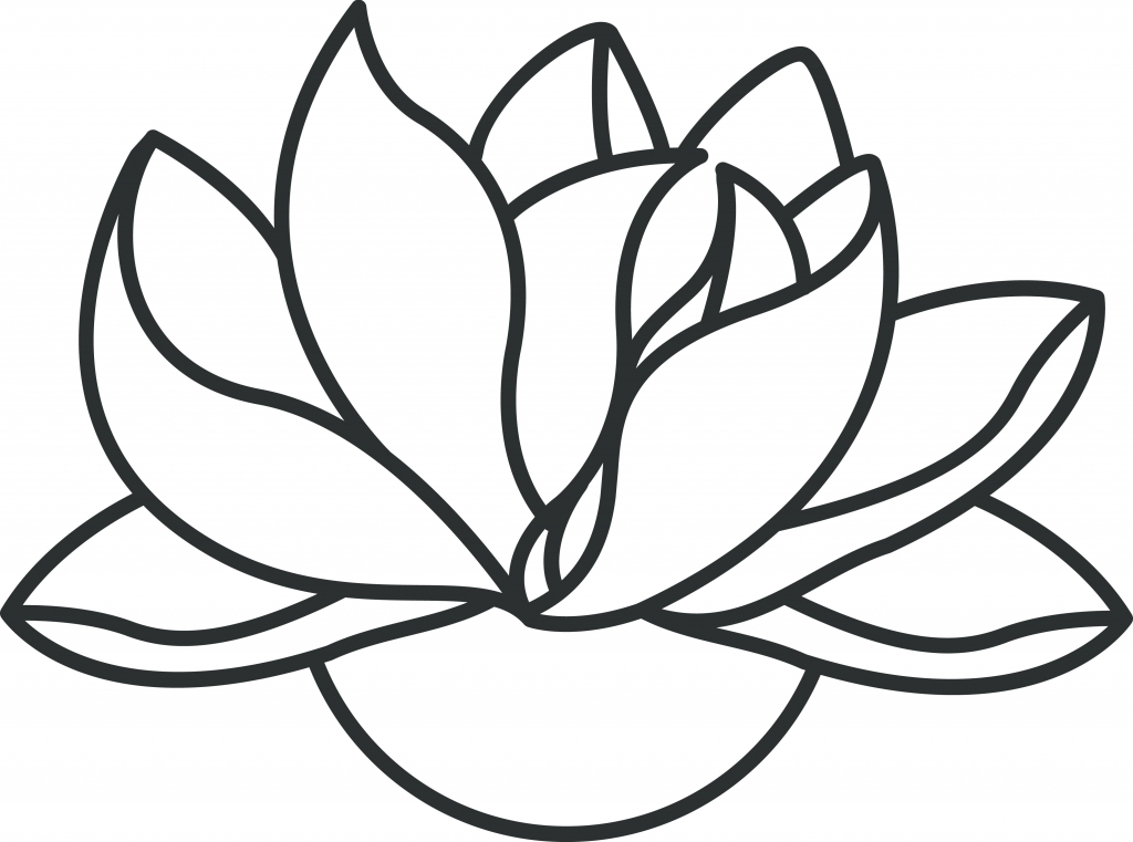 Lotus clipart easy draw. Flower drawing step by
