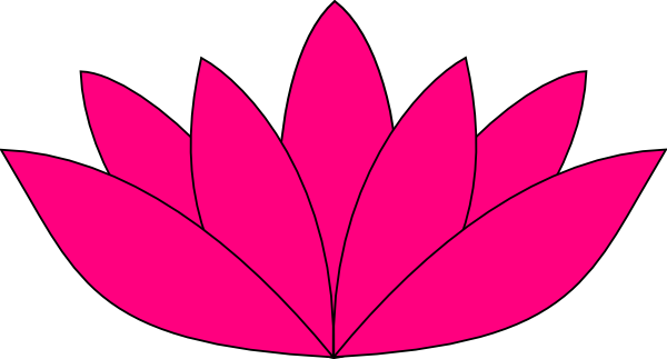 pink drawing lotus flower