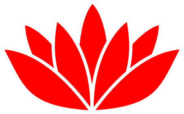 Lotus flower vector png. Red picture clip art