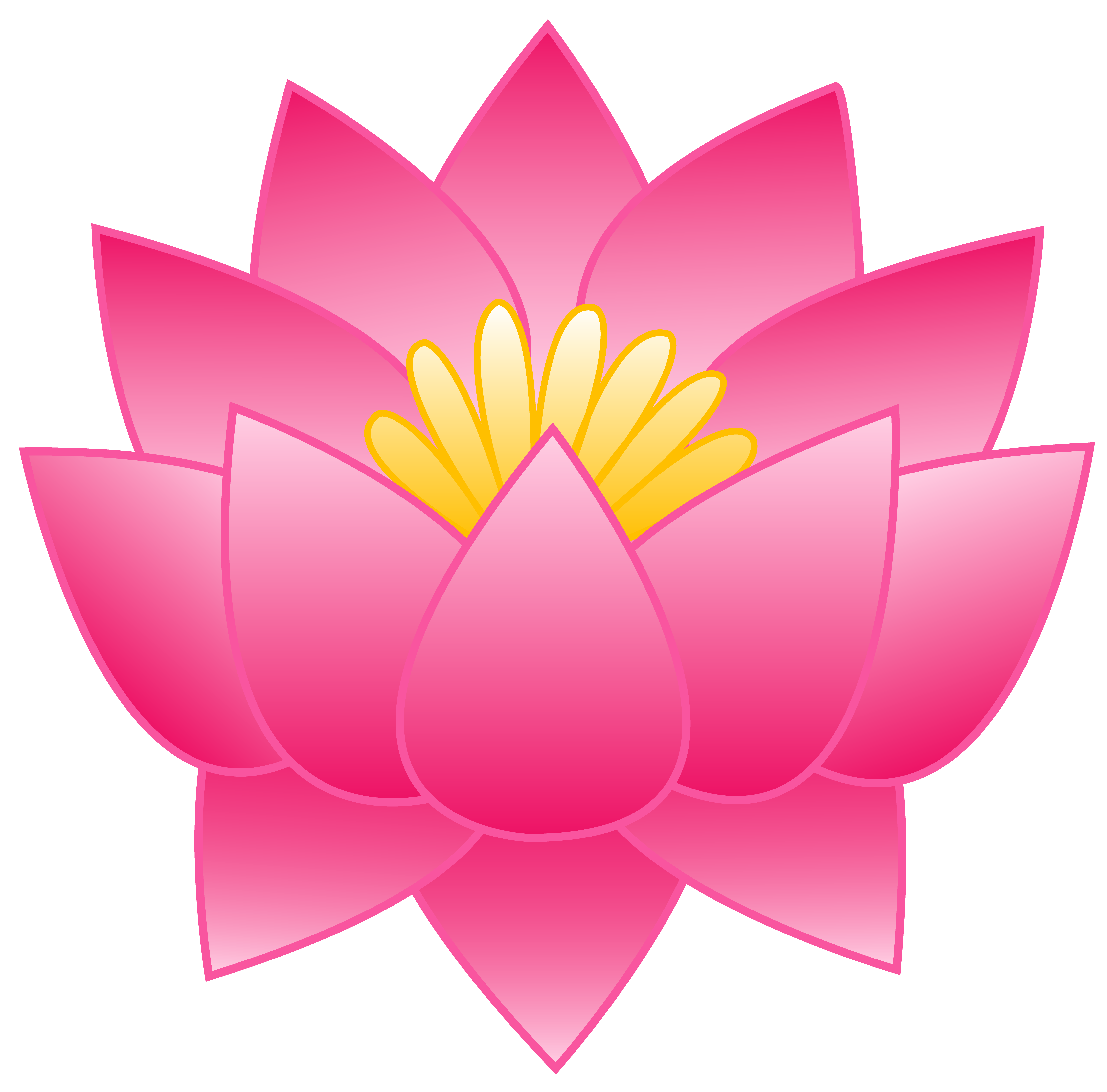Lotus flower graphic png. Clipart