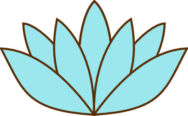Teal clip art at. Lotus flower silhouette vector png clip art freeuse