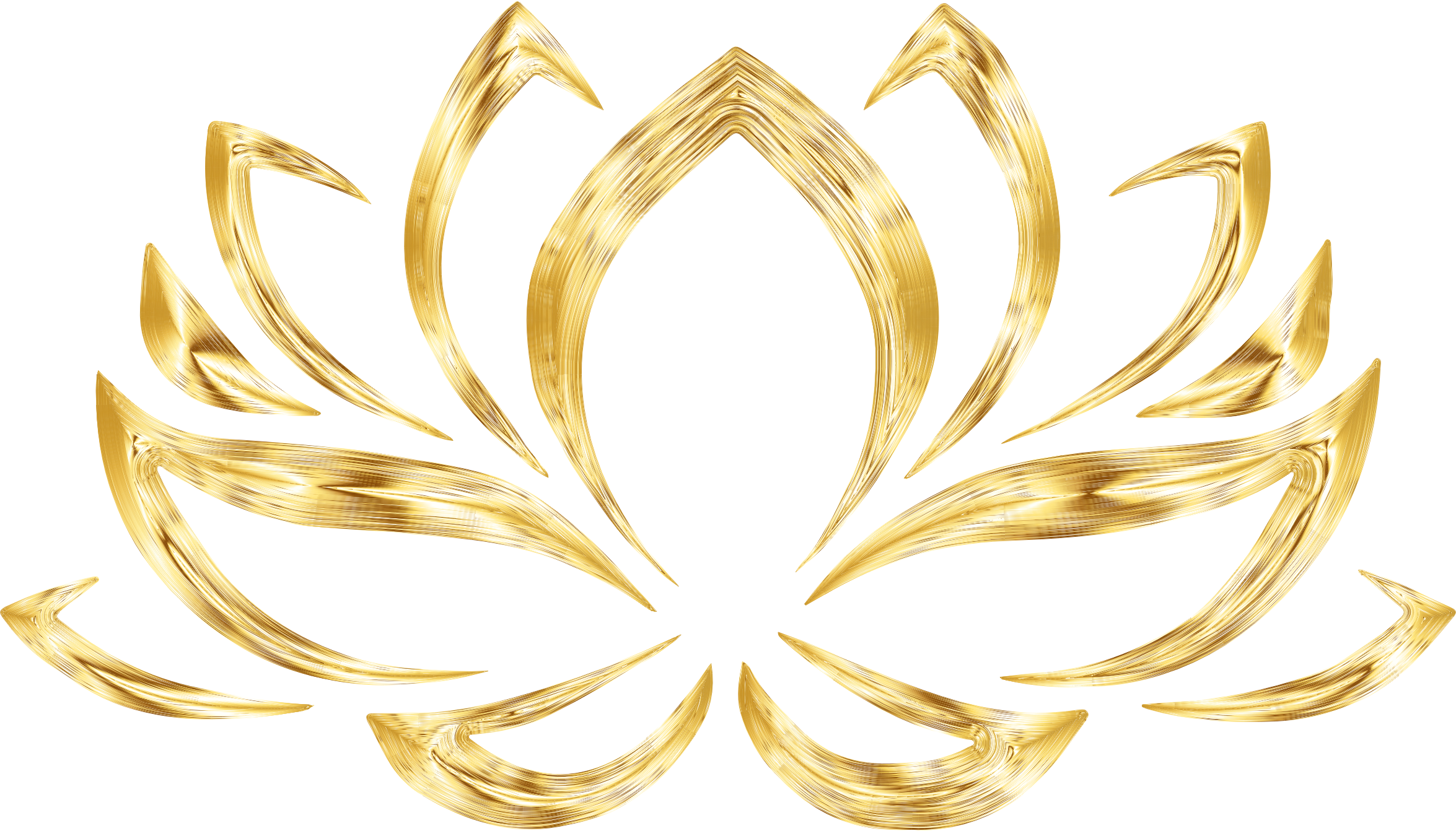 Lotus flower vector png. Aurumized no background icons