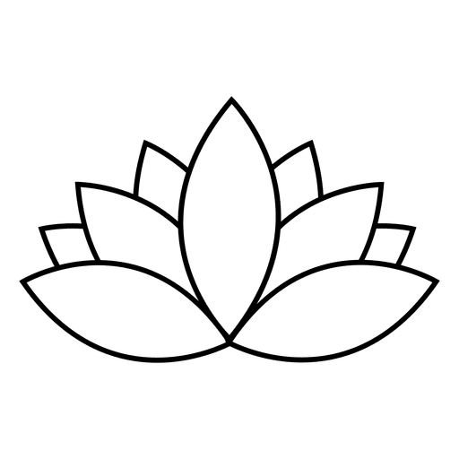 Lotus flower vector png. Stroke transparent svg
