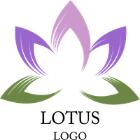 Lotus logo png. Art inspiration vector ai