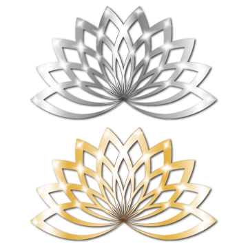 Metallic vector metal panel. Lotus png images vectors
