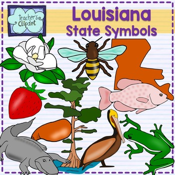State symbols by teacher. Louisiana clipart banner free