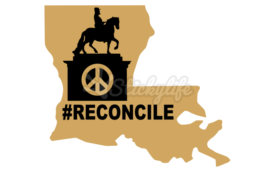 Louisiana clipart decal. Reconcile the past