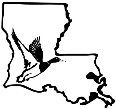 Louisiana clipart decal. Duck hunting stickers hunt