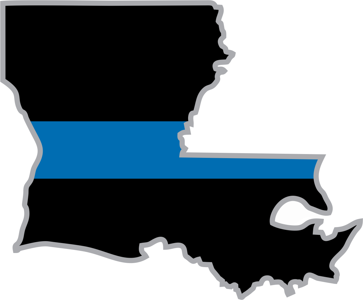 Louisiana clipart decal. Thin blue line state