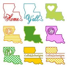Louisiana clipart decal. Monogram state or fleur