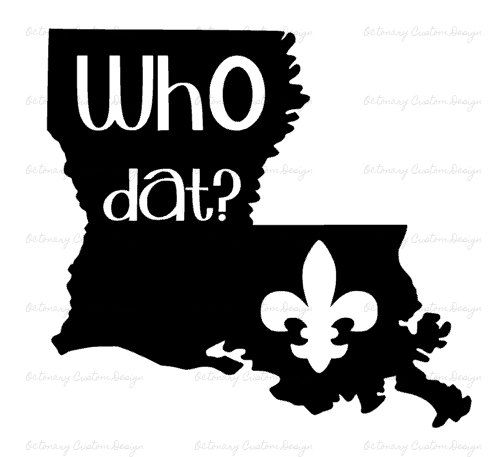 Digital who dat monogram. Louisiana clipart svg png library