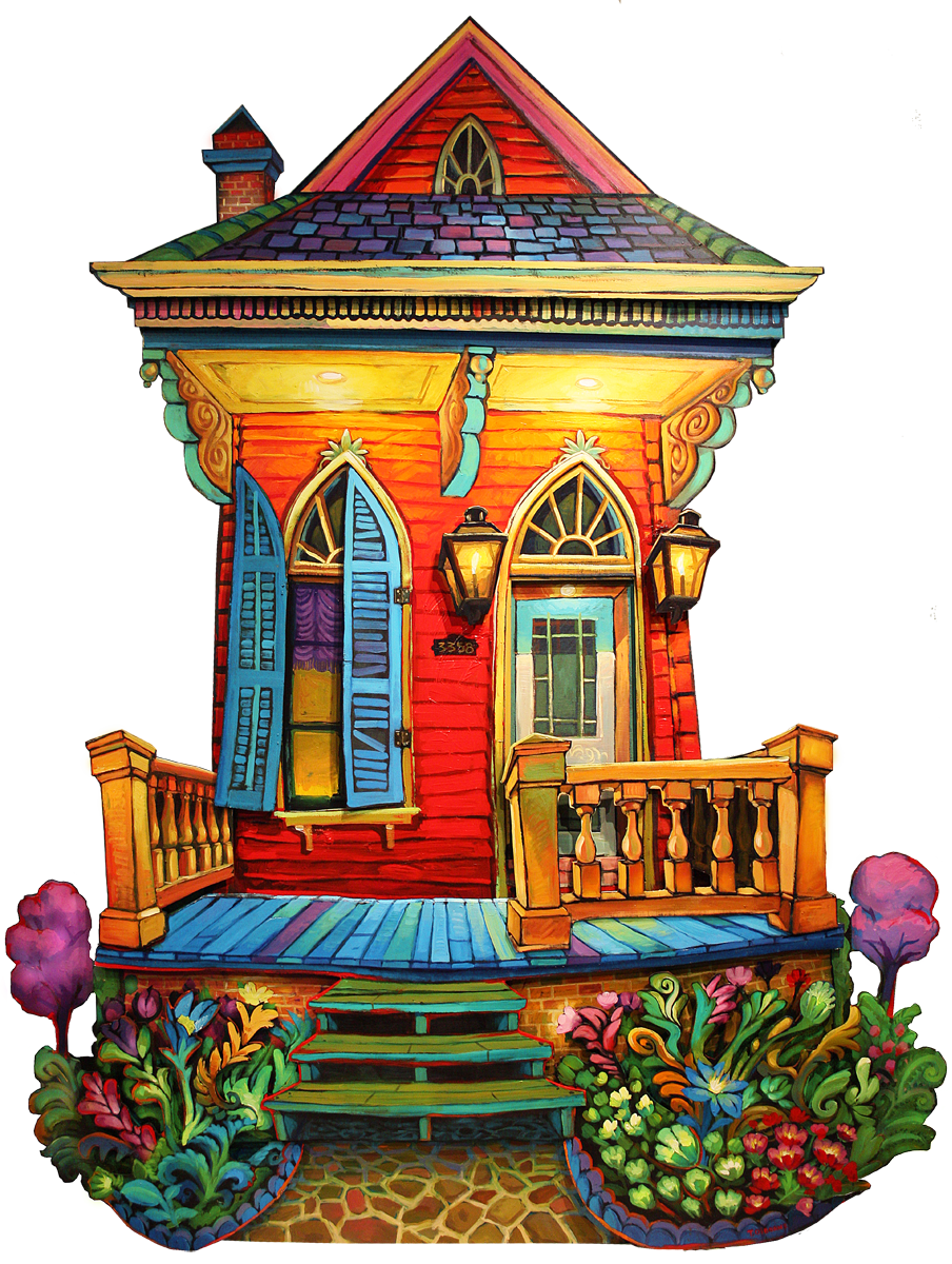 Louisiana drawing building. Uptown garden png pixels
