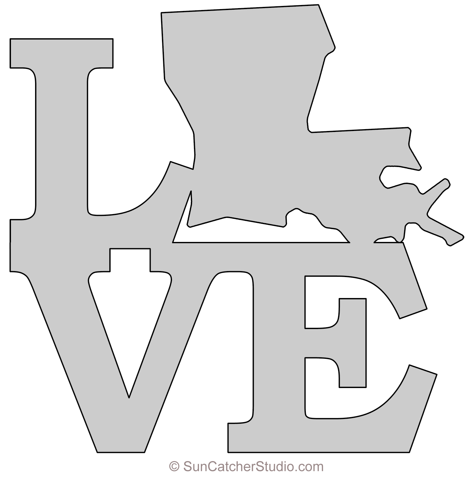 Map outline printable state. Louisiana svg template clip freeuse