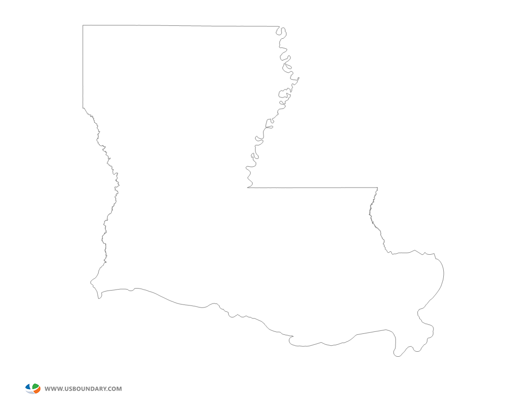 Map outline bnhspine com. Louisiana drawing template banner black and white download