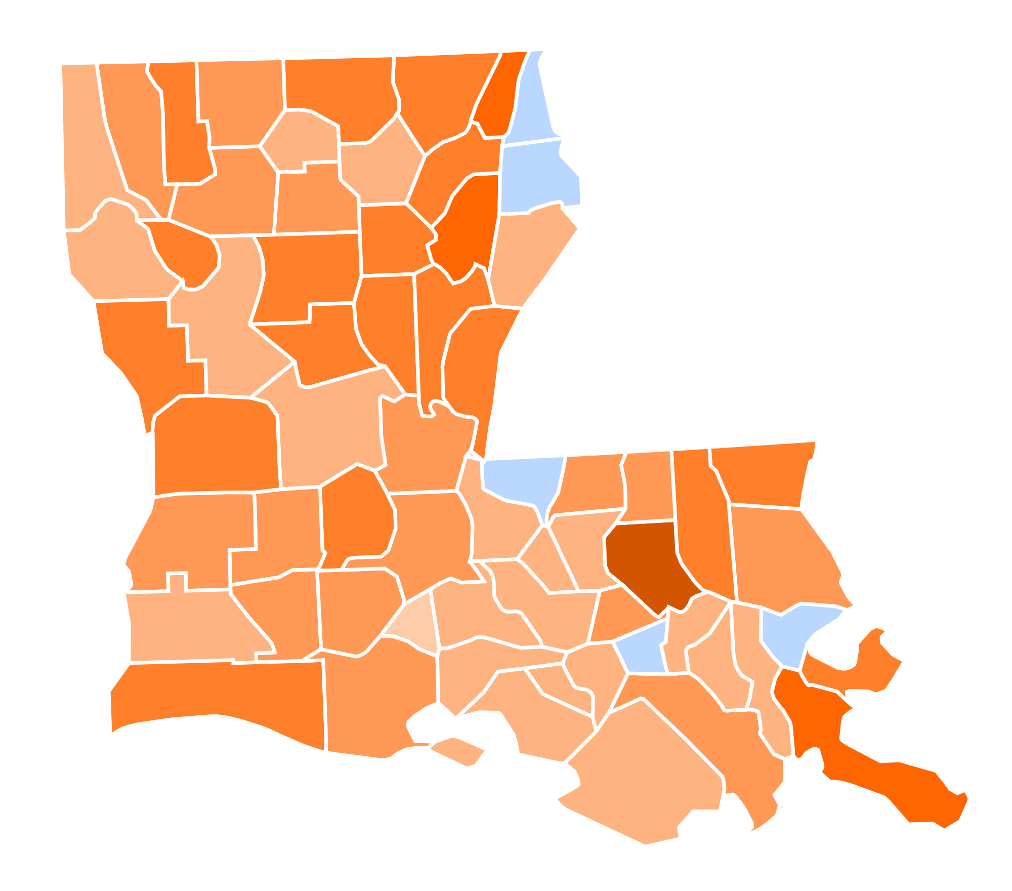 Louisiana svg. File presidential election results