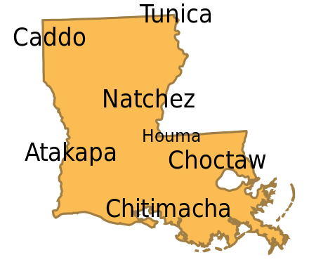 Louisiana svg boot. Wikiwand the languages of
