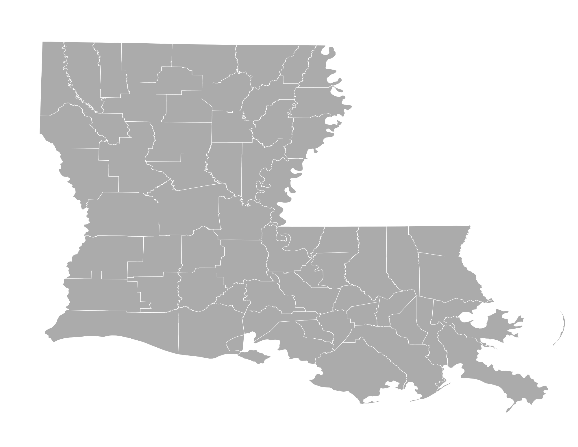 Louisiana svg outline. File counties wikimedia commons