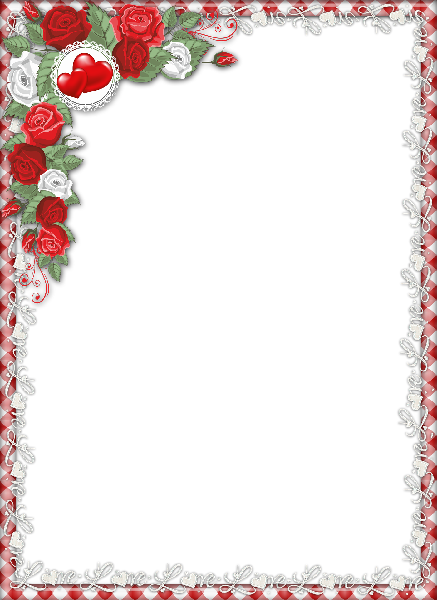 Png photo frames. Red love transparent frame