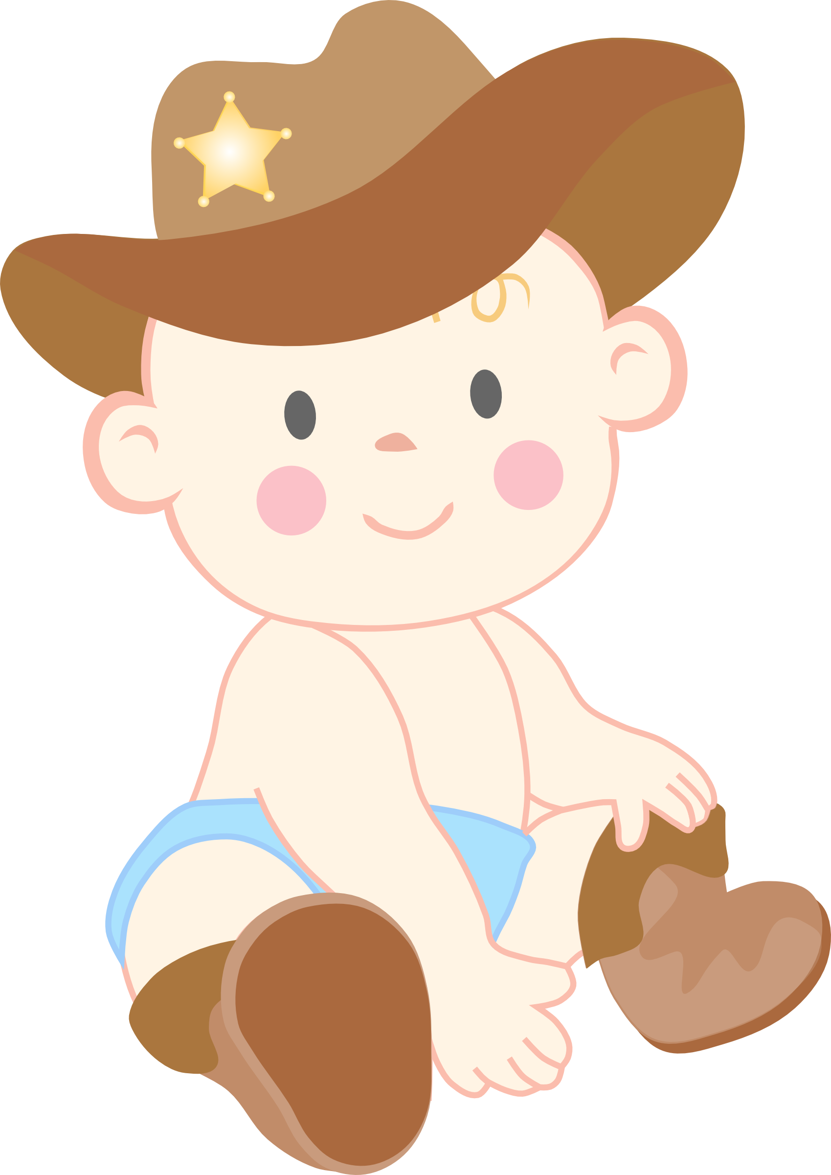 Free cowboy love cliparts. Western clipart child clipart royalty free stock