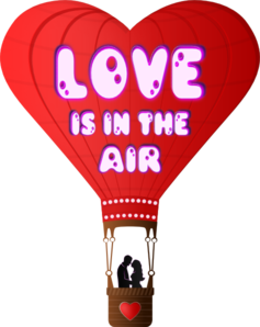 Love clipart hot air balloon. Is in the clip