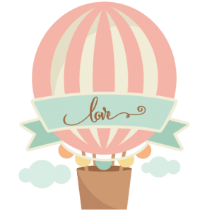 Love clipart hot air balloon. Transparent png stickpng download