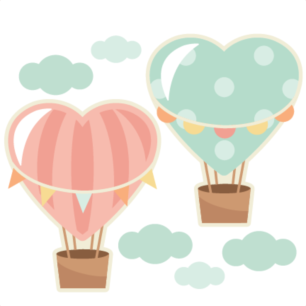 Love clipart hot air balloon. Free download heart balloons