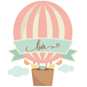 Love clipart hot air balloon. Miss kate cuttables pinterest