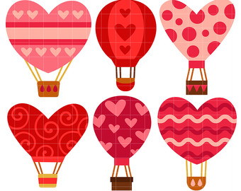 Love clipart hot air balloon. Drawing etsy balloons