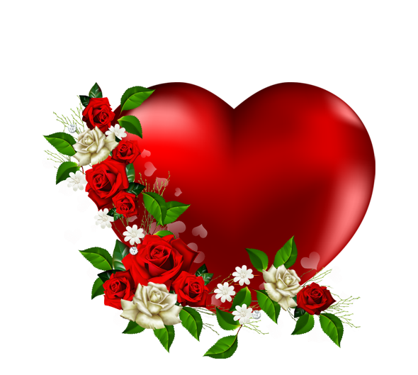 Love clipart png. Heart with flowers image