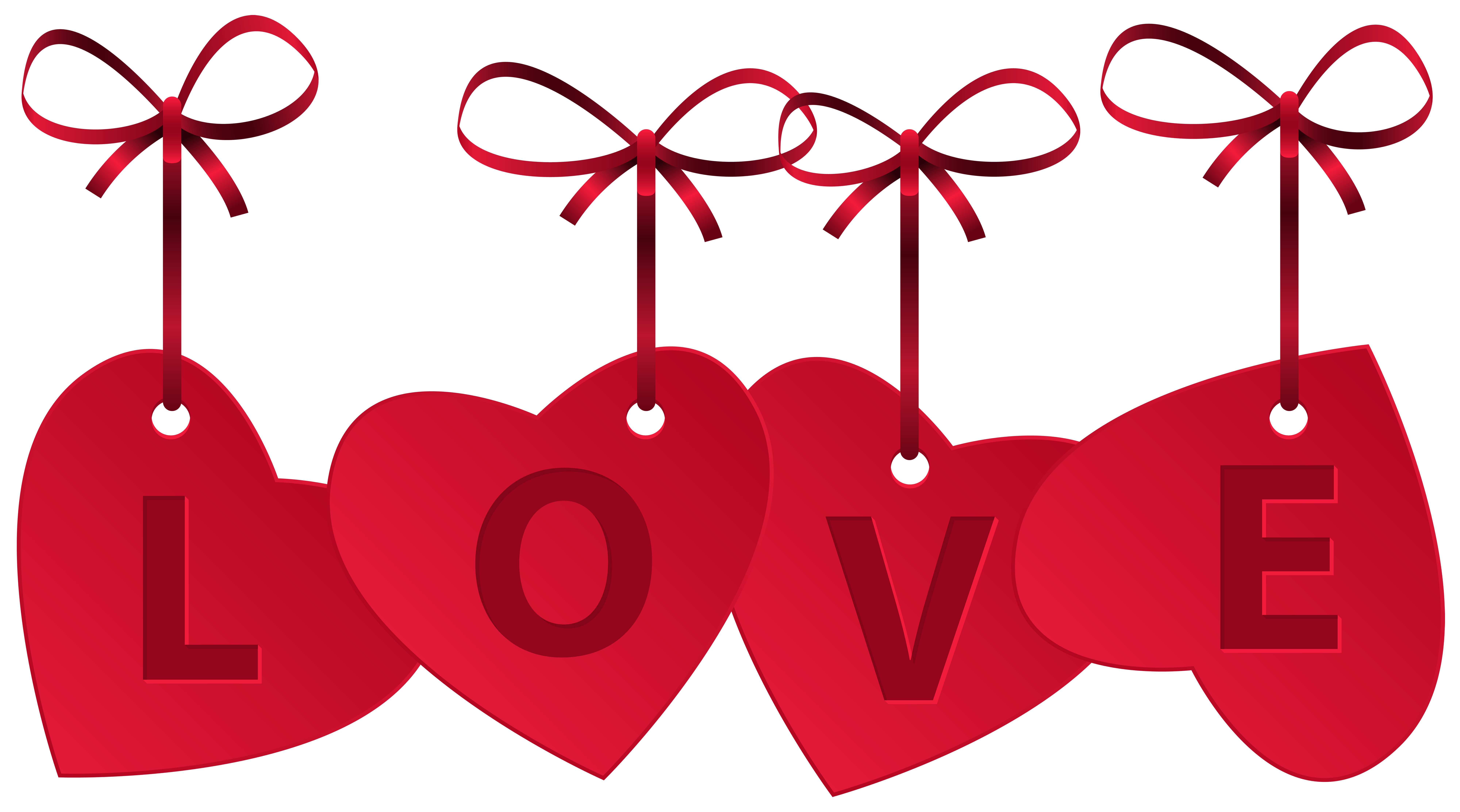 Love clipart png. Hearts with decoration clip