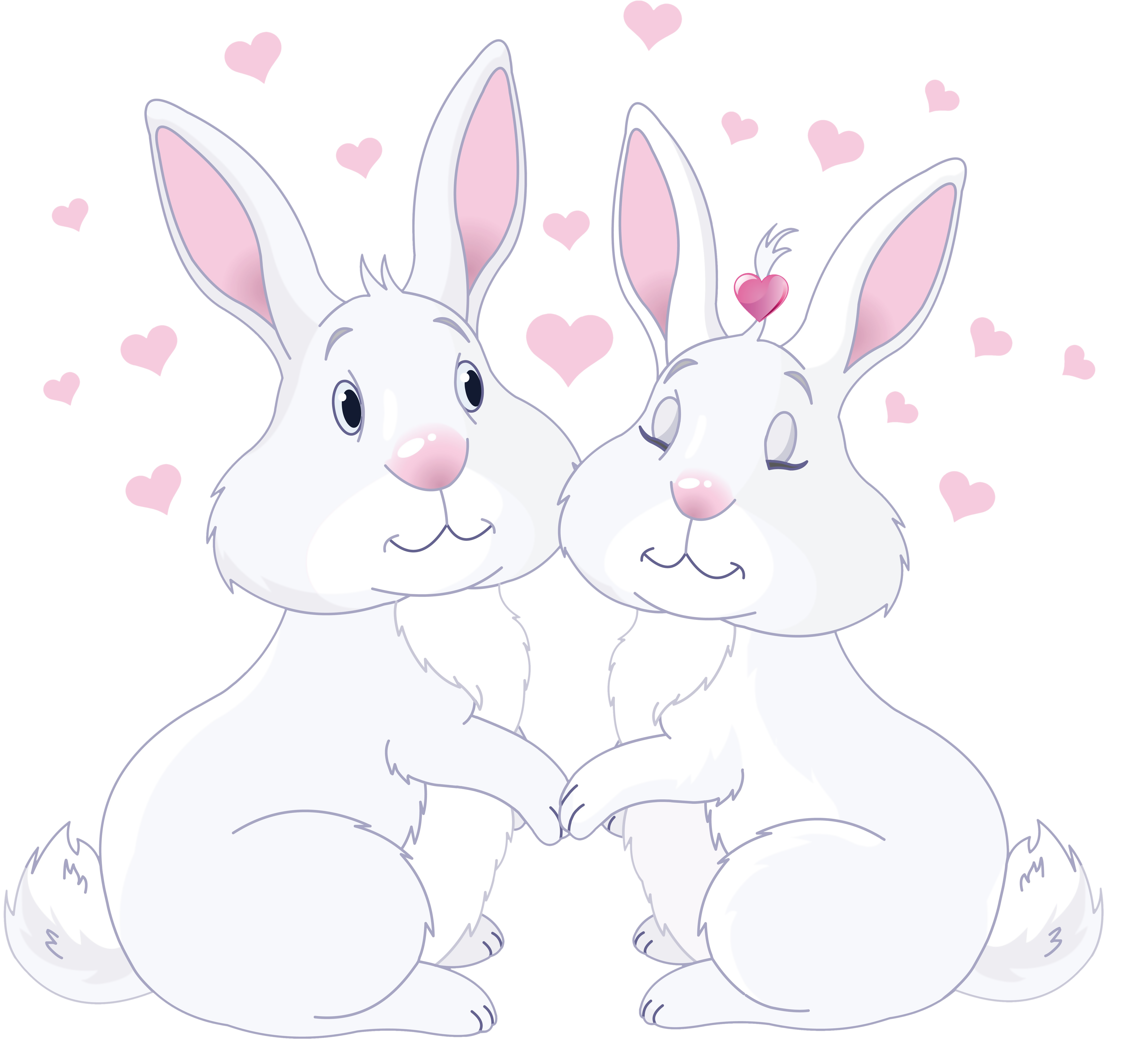 Love clipart rabbit. Cute bunnies in png