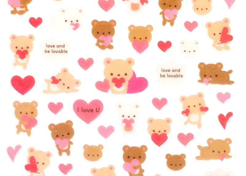 Kumhong Bears in Love Stickers