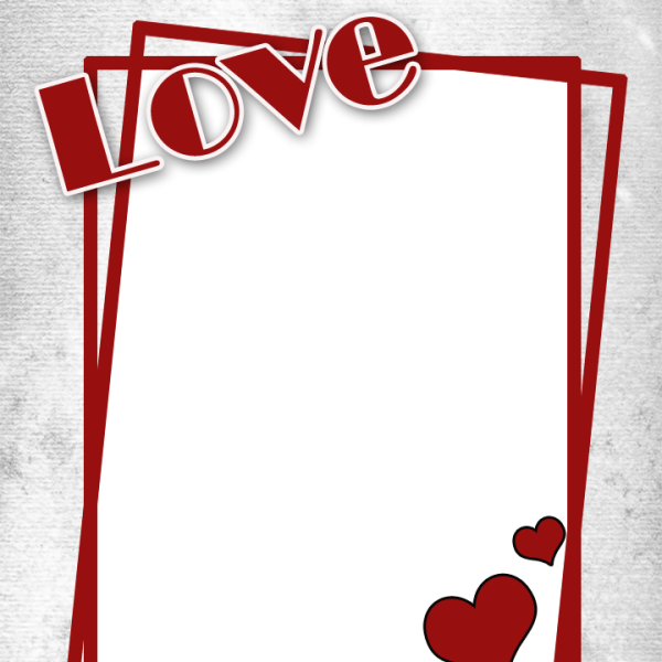Love frame png. With heart freeproducts