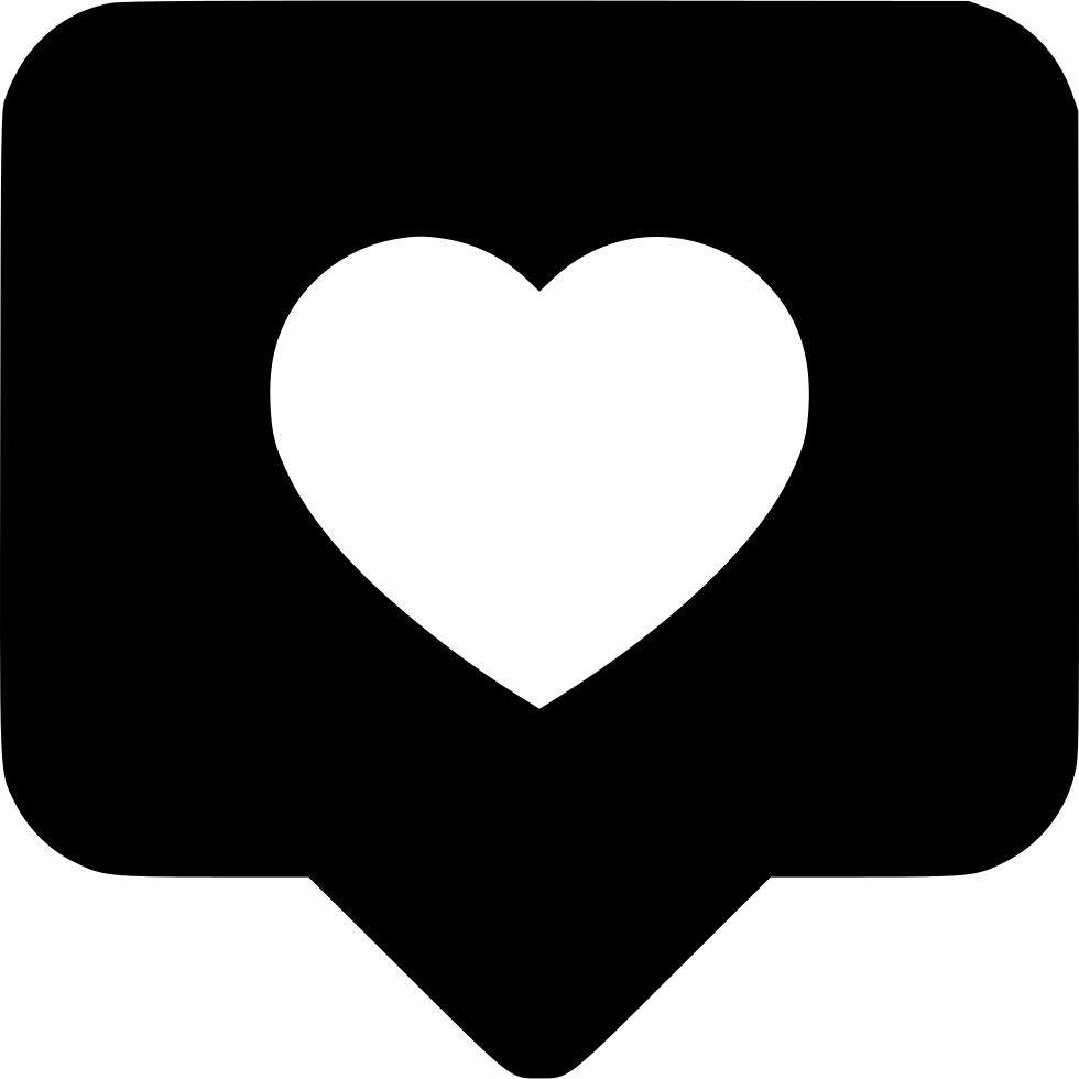 Love icon png. Message comment chat bubble